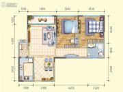 润莱金座2室2厅1卫81平方米户型图