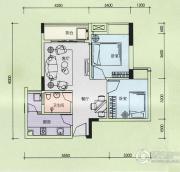 金奥园2室2厅2卫65平方米户型图