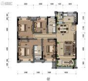 嘉裕第六洲4室2厅2卫132平方米户型图