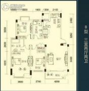 三清・国际华城3室2厅2卫108平方米户型图