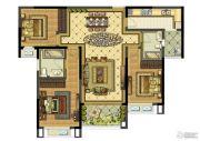 雅居乐滨江国际3室2厅2卫129平方米户型图