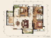 天玺三期3室2厅2卫123平方米户型图