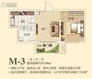 鹿鸣湖壹号1室1厅1卫47平方米户型图