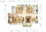 东莞恒大翡翠华庭4室2厅2卫0平方米户型图