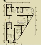 九星国际e世界3室2厅2卫147平方米户型图