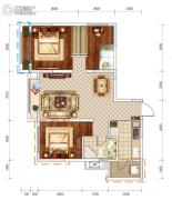 文泰欧城3室2厅1卫84平方米户型图