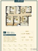 万科美景魅力之城3室2厅2卫117平方米户型图