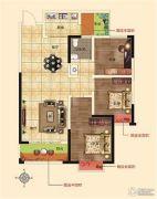 润合花园3室2厅1卫109平方米户型图