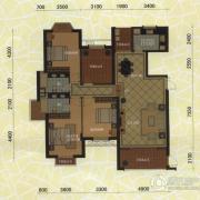 东方名城3室2厅2卫166平方米户型图