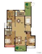 华明星海湾3室2厅2卫124平方米户型图