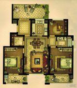 万科・珑庭3室2厅1卫90平方米户型图