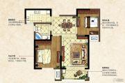 中南锦城2室2厅1卫81平方米户型图