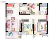 南山维拉3室2厅1卫91平方米户型图