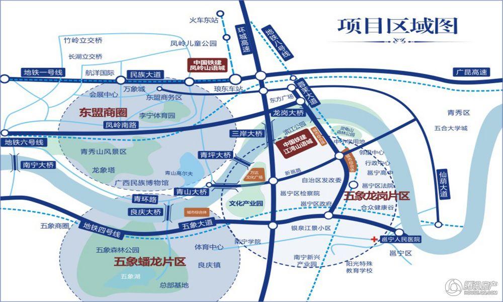 中国铁建江湾山语城区位图
