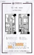 世和・天玺国际中心1室2厅2卫0平方米户型图