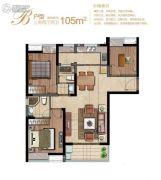 堰湾长堤3室2厅2卫105平方米户型图