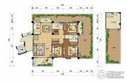 上上城・壹号院4室2厅3卫170平方米户型图