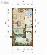 天籁谷1室2厅1卫31平方米户型图