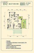 仙女山1号2室2厅1卫0平方米户型图