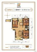 香悦四季3室2厅1卫112平方米户型图