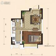 融城7英里1室1厅1卫49平方米户型图