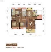 城市中央广场3室2厅2卫136平方米户型图
