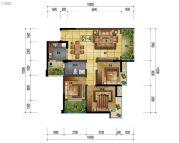 万象国际城3室2厅1卫91平方米户型图