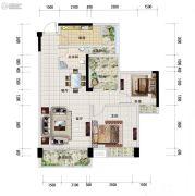 中安止泊园2室2厅1卫86平方米户型图