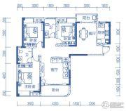 半山�庭3室2厅2卫119平方米户型图