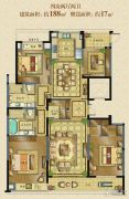 融创常州御园4室2厅4卫188平方米户型图