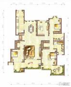 江与城4室2厅2卫142平方米户型图