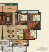 珠光流溪御景3室2厅1卫97平方米户型图