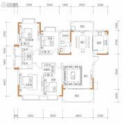 保华铂郡4室2厅3卫160平方米户型图