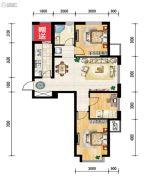 世纪枫景汇3室2厅1卫96平方米户型图