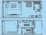 联海国际1室1厅1卫68平方米户型图