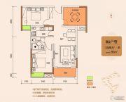 城中金谷3室2厅1卫95平方米户型图