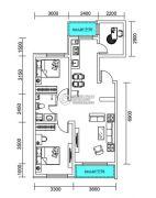 千翔尚城3室2厅1卫104平方米户型图
