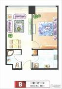 三庆・青年城1室1厅1卫0平方米户型图