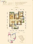 融创欧麓花园城3室2厅2卫95平方米户型图
