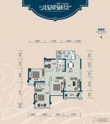 云星・钱隆御景4室2厅2卫103平方米户型图