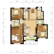 苏宁绿谷庄园3室2厅2卫129--130平方米户型图