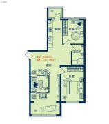 泰和盛世2室1厅1卫0平方米户型图