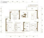 玖颂江湾2室2厅2卫97平方米户型图