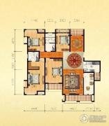 金通桂园 高层4室2厅2卫199平方米户型图