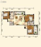 五堰・新天地3室2厅2卫122平方米户型图