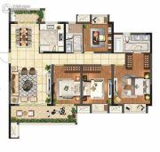 保利悦都4室2厅2卫143平方米户型图