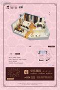腾业・国王镇1室1厅1卫32平方米户型图