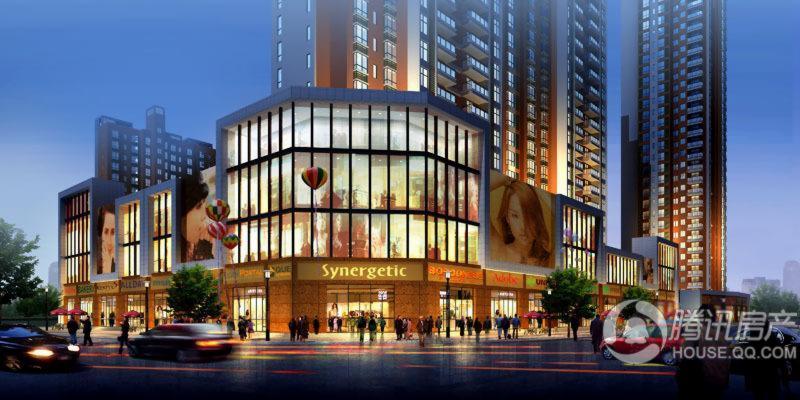青城商业夜景图