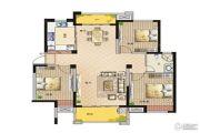 鹏欣领誉 高层3室2厅1卫124平方米户型图