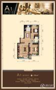 尚峰・红墅湾2室2厅1卫88平方米户型图